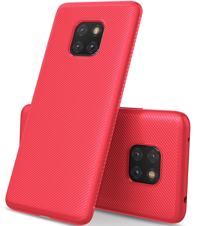 Huawei Mate 20 Pro case, KuGi [Scratch Resistant] Anti-Skid Soft TPU Pattern Slim Protective case Huawei Mate 20 Pro Smartphone(Purple) Vostrostone