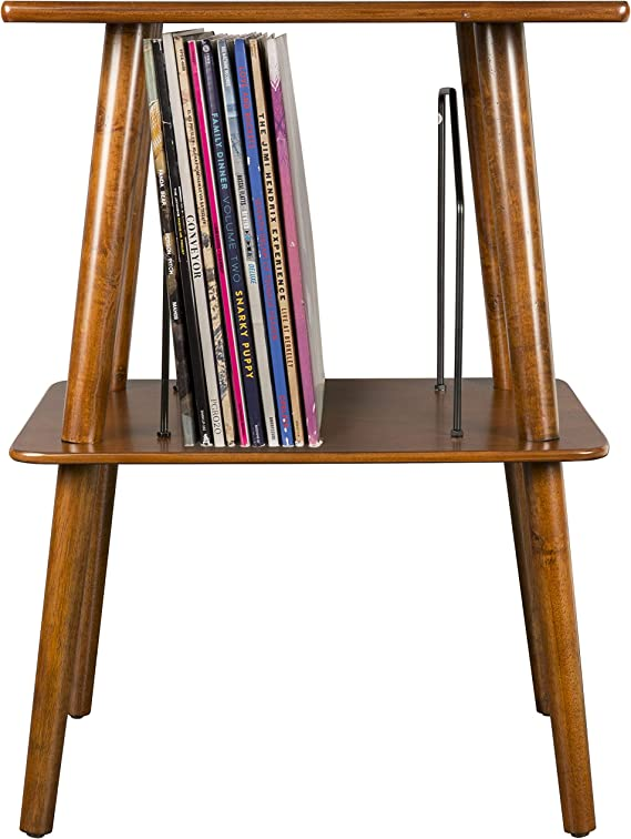 Crosley ST66-MA Manchester Turntable Stand with Wire Record Storage