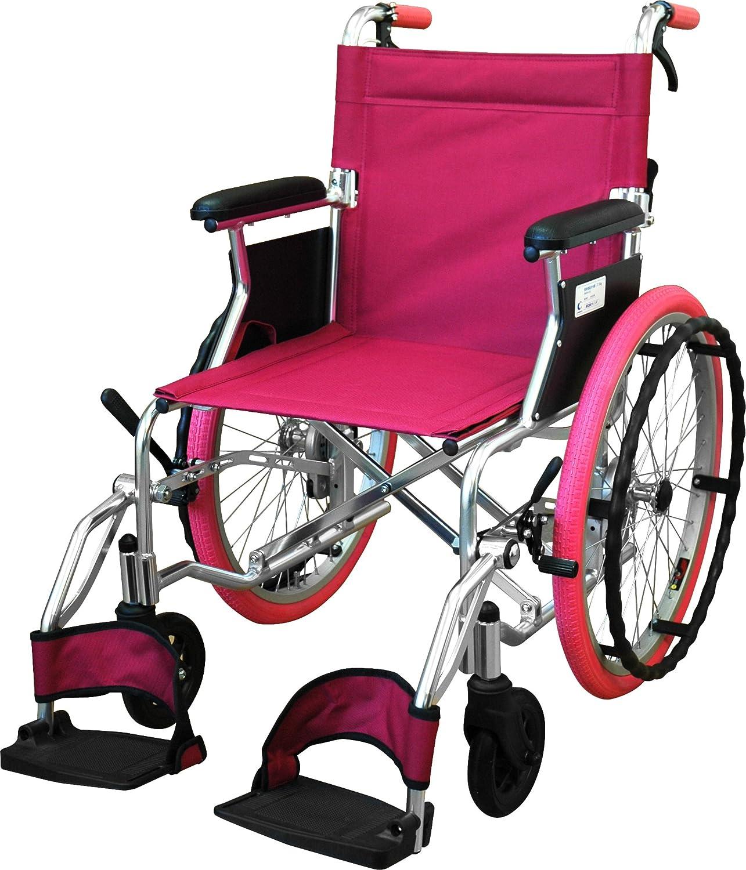 チノンズ コンパクト自走用車いす Palet(パレット) ピンク B00CZ0XSOI ピンク ピンク