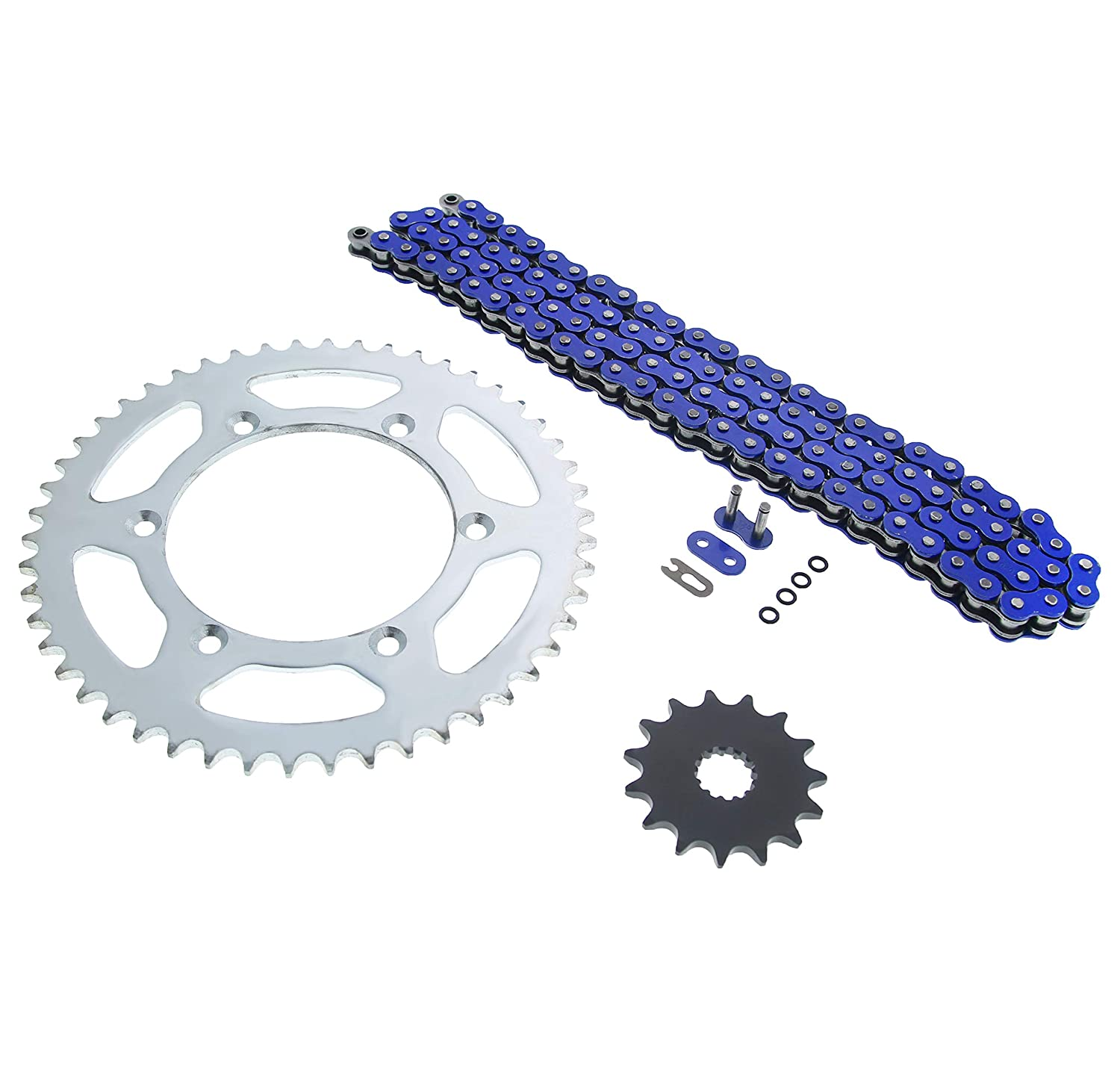 WR400 F Blue O Ring Chain and Sprocket 15//50 114L Yamaha YZ250