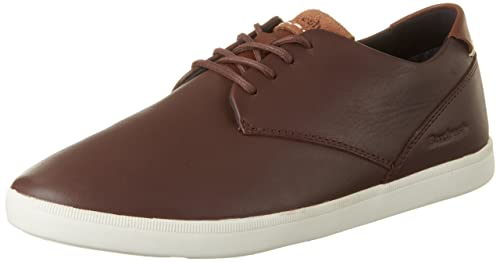 Mens Henning Ch Lea Blk Trainers, Brown Boxfresh