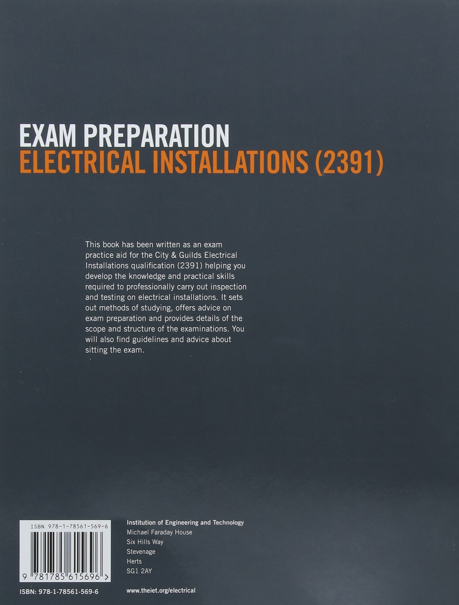 Exam Preparation 2391 Inspection Testing (Electrical Regulations):  Amazon.co.uk: The IET: 9781785615696: Books