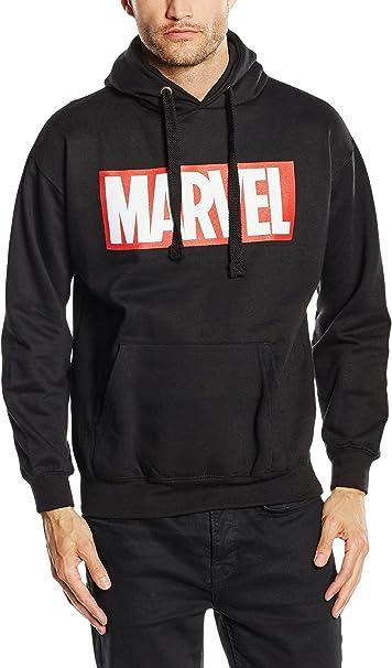 Marvel Hoodie Logo Hooded Elbenwald Nero