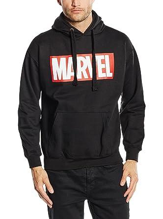 994573f63b246 Marvel Comics Core Logo P/O Hood Sweat-Shirt à Capuche Homme: Amazon.fr:  Vêtements et accessoires