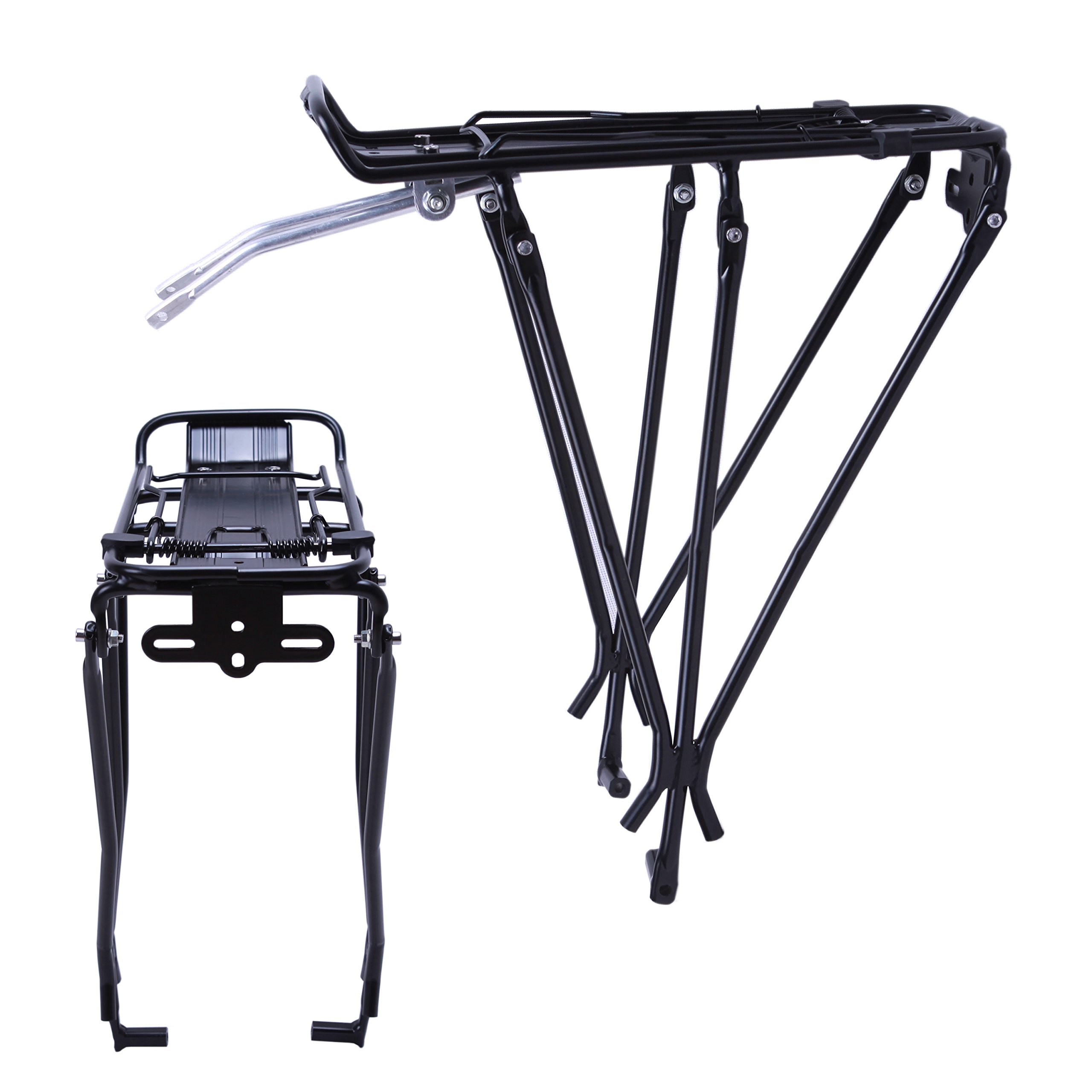 VILOBYC Bicycle Rear Cargo Rack Carrier Luggage Rack Pannier Rack for Disc Brake Bikes