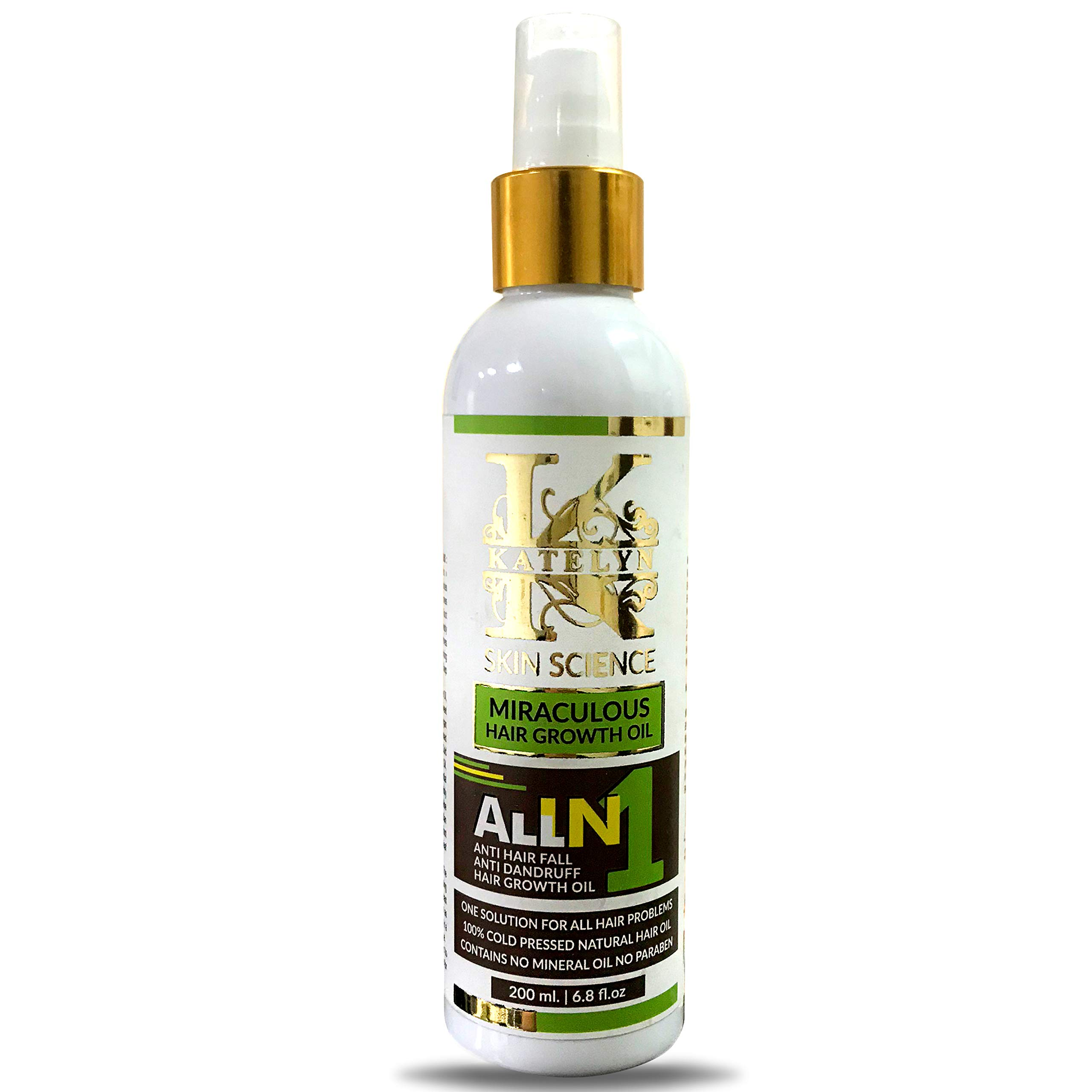 Katelyn All in One Miraculous Hair Growth Oil 200ml Anti Hair Loss Oil, Anti Dandruff Oil, Hair Growth Oil, One Solution For All Hair Problem 100% Cold Pressed Natural Hair Oil product image