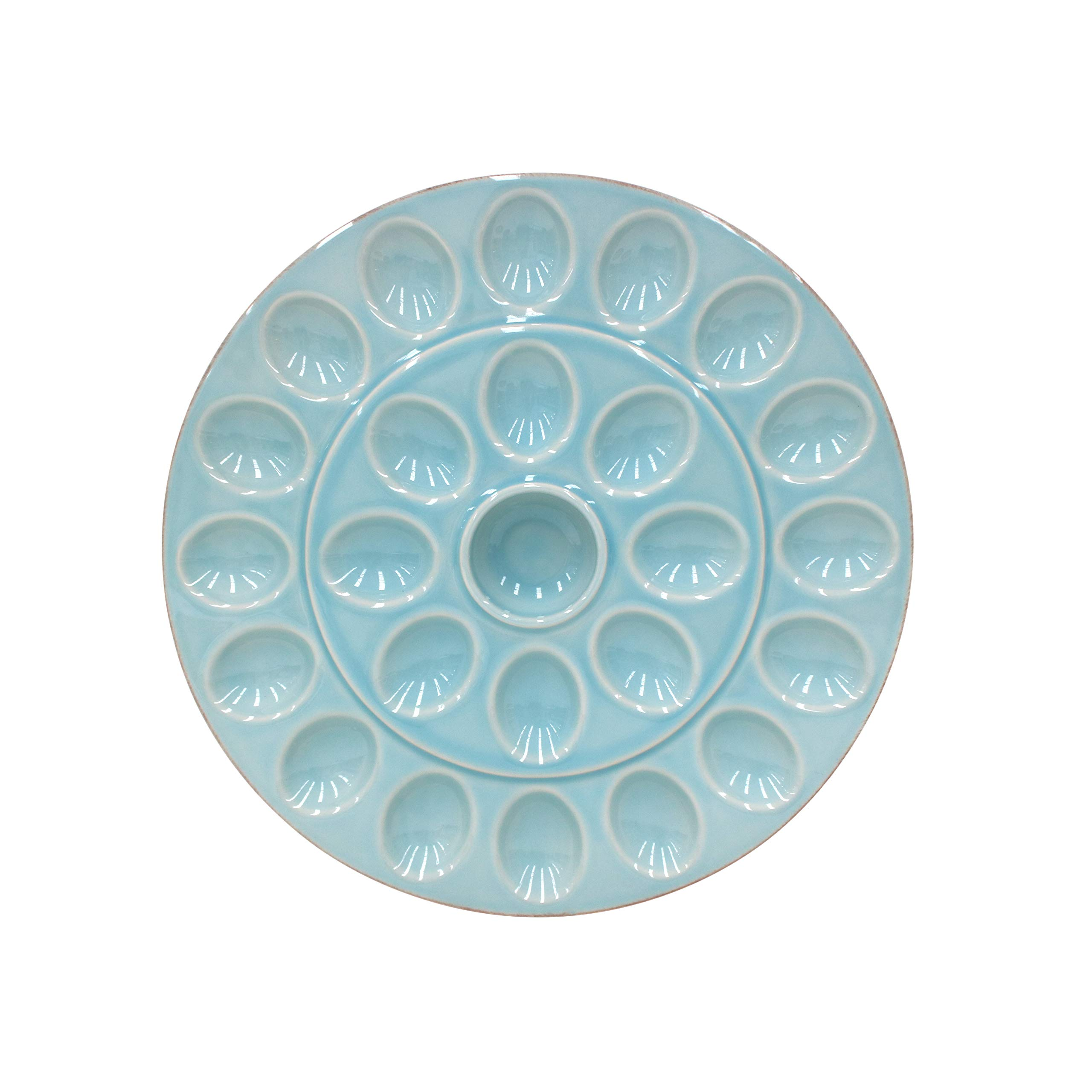 Casafina Cook & Host Deviled Egg Serving Platter 13.25'', Blue by Casafina (Image #1)
