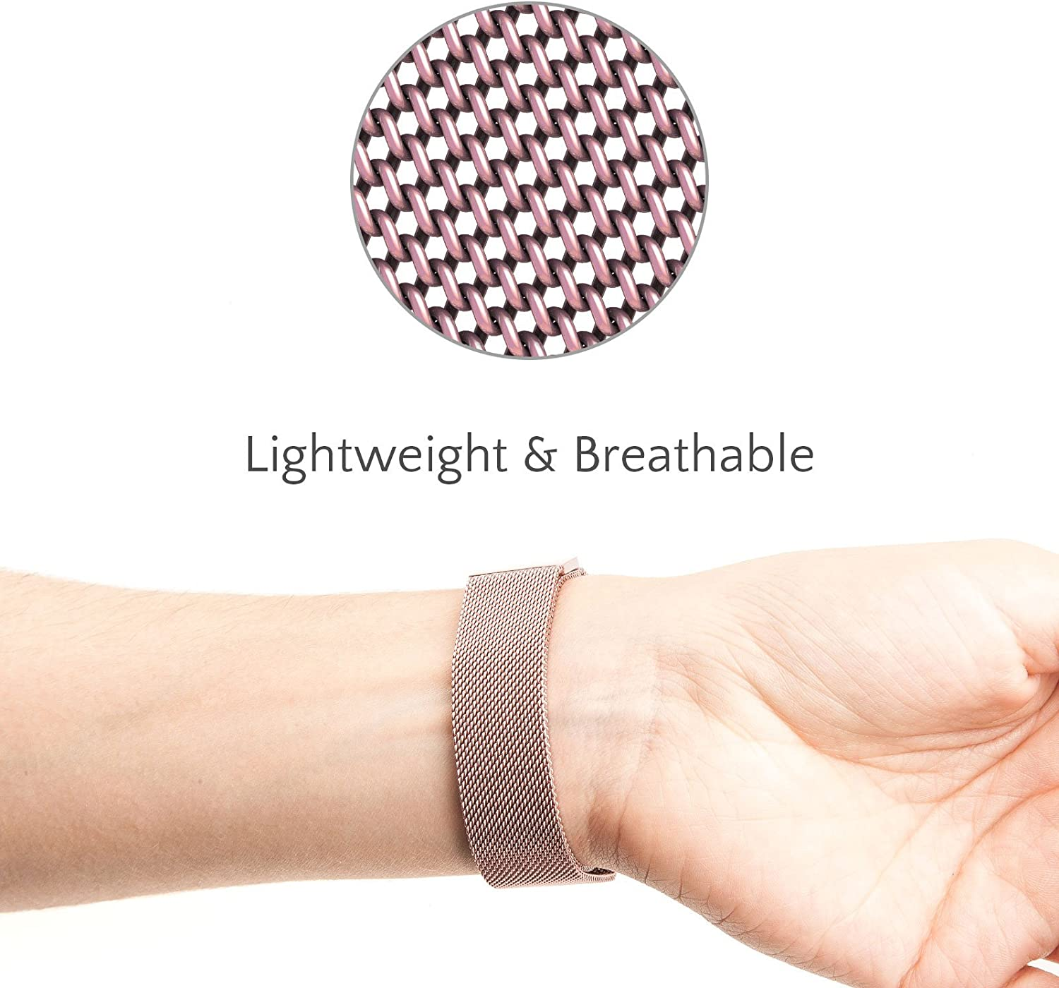 Metal Band Compatible For Charge 2 with Fully Adjustable Mesh Loop Design 9 Colours Available Proworks Replacement Strap Compatible For FitBit Charge 2 Brushed Stainless Steel Magnetic Wristband For Men /& Women
