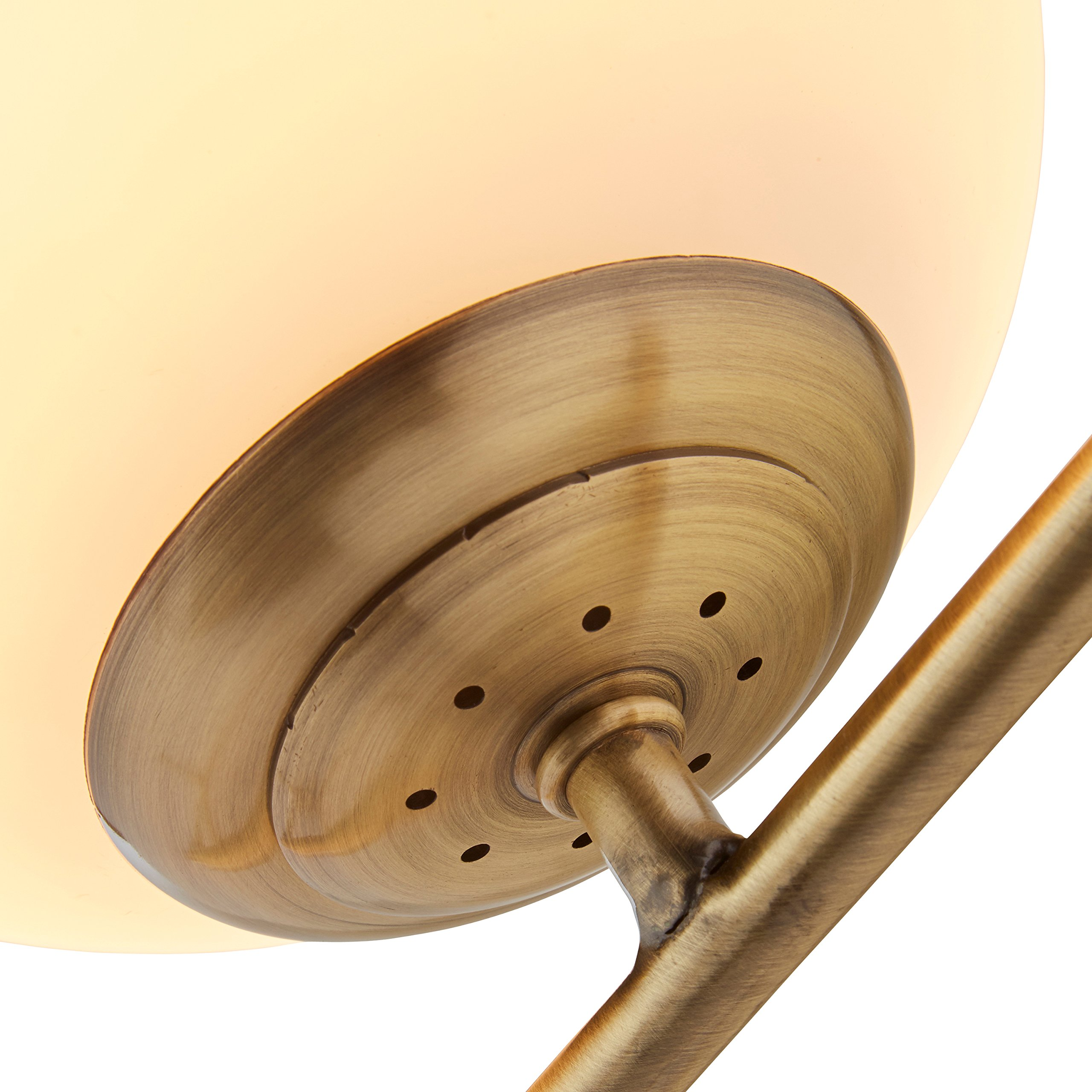 Rivet Glass Ball and Angled Metal Table Lamp with Bulb, 21.5''H, Brass by Rivet (Image #2)