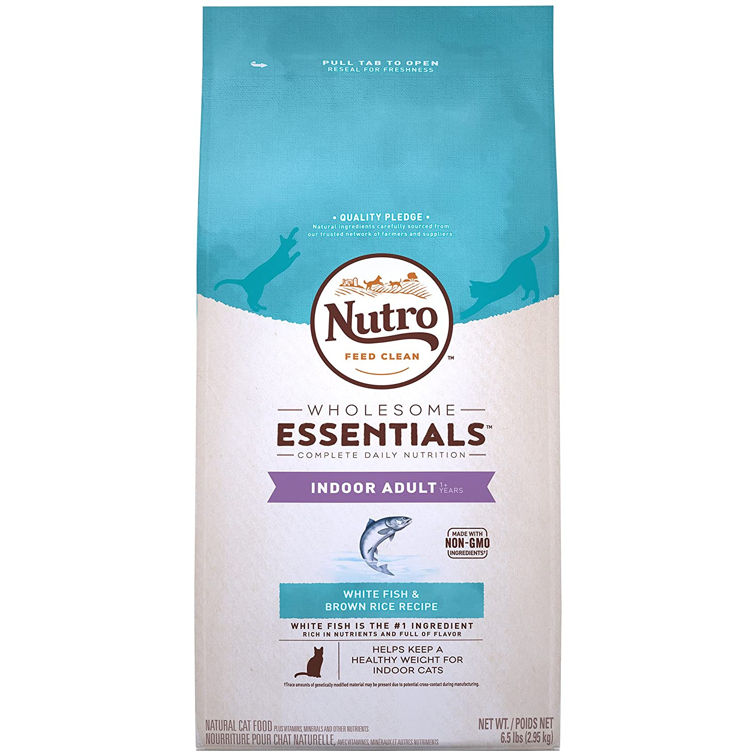 Nutro Adult Indoor White Fish & whole Brown Rice Recipe Natural ...
