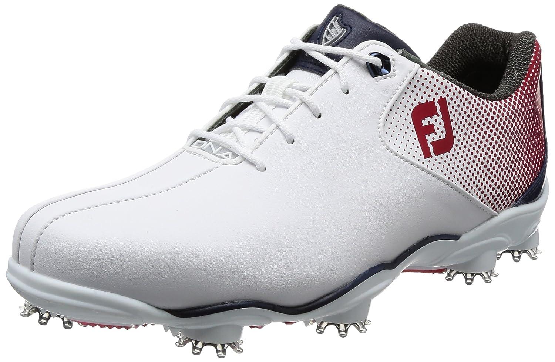 [フットジョイ] ゴルフシューズ 53328J B07647D615 25.5 cm ホワイト/レッド