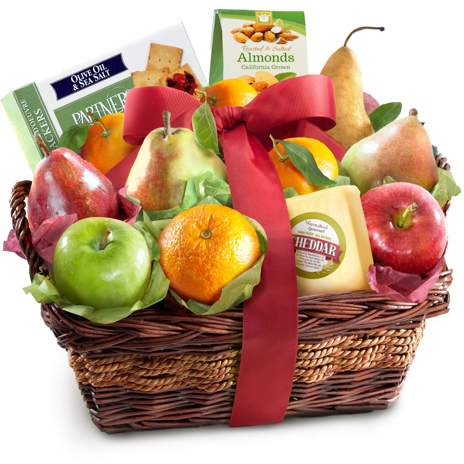 Fruit Basket Delight with Cheese and Nuts