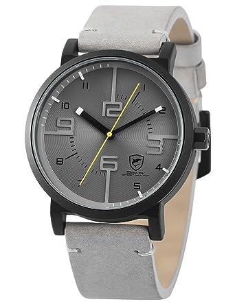 SHARK hombre deportivos Cuarzo relojes de pulseras cuero SH571: Amazon.es: Relojes
