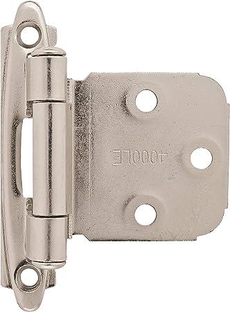 Amerock  2 in L Polished Brass  Steel  Decorative Hinge  2 W x 2-3//4 in