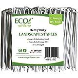 ECOgardener Extra Heavy Duty Galvanized Weed Barrier Landscape Fabric Staples