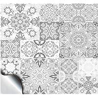 "24 Diy bathroom Kitchen 6 inches tile stickers for 6"" 15cm square wall tile stickers sticks on tile covers tiles transfers covers for kitchen bathroom wall tiles Decor ideas Whites Greys TP15"