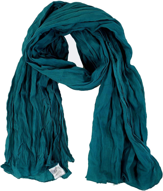 Krinkelschal Guru-Shop Cravatta Dyet/ücher Dicotone Sciarpa Dimensione Indumenti:One Size Panno di Cotone Indiano Sciarpe Colorate Asciugamani Verde