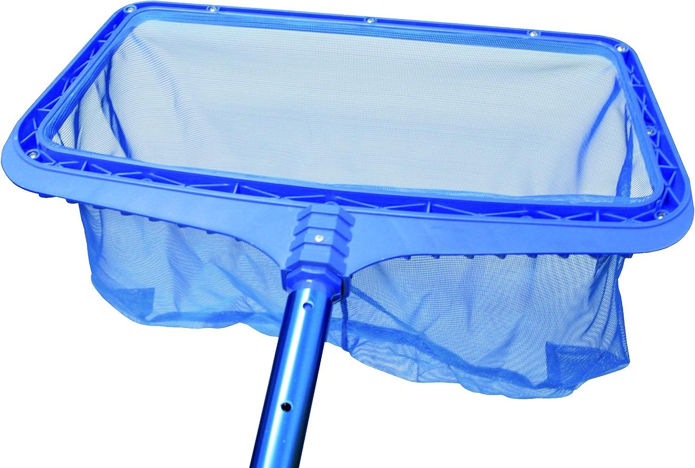 Steinbach - Limpiador para suelo de piscina con marco de plástico reforzado, para poste telescópico, azul, 515x235x410 mm