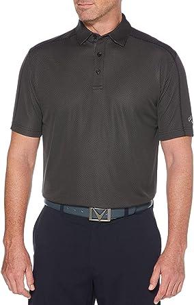 Callaway Mens Performance Short Sleeve Stripe Polo Shirt