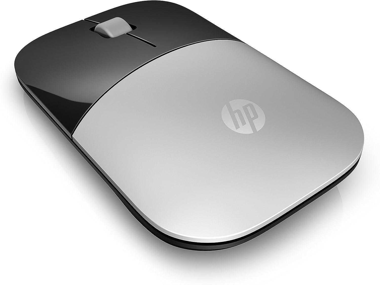 HP Z3700 RF Raton óptico inalámbrico 1200DPI Plateado (Ambidiestro) - Ratón (RF inalámbrico, Oficina, Botones, Rueda, Óptico, Pilas)
