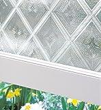 Artscape Diamond Glass Window Film 61 x 92 cm, Vinyl, Silver, 91.4 x 61 x 0.02 cm