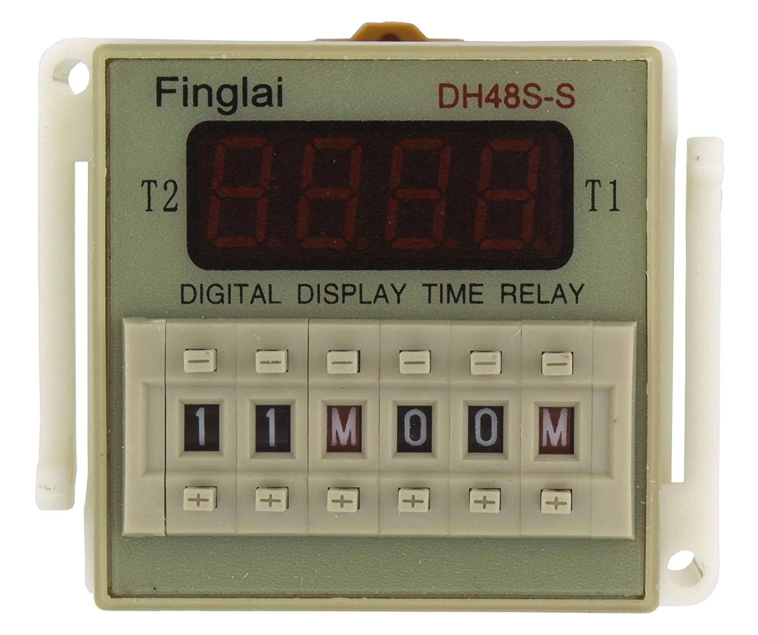 DH48S-S AC 110V repeat cycle SPDT time relay with socket DH48S series 110VAC delay timer with base