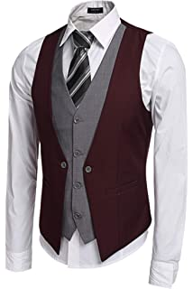 Boom Fashion Gilet uomo giacca senza maniche Slim Fit Casual ... 1adee5f998b