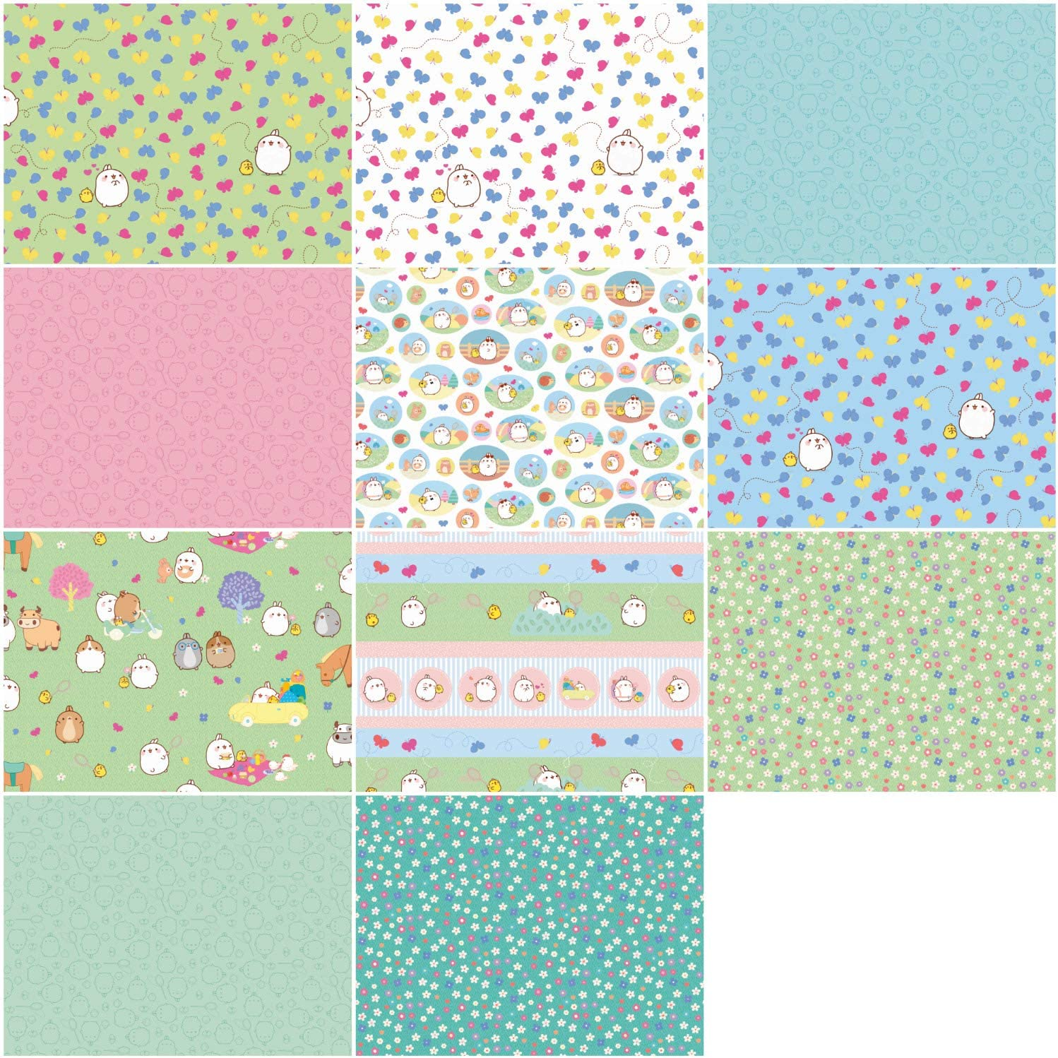 Molang Rolie Polie 40 2.5-inch Strips Jelly Roll Riley Blake Designs RP-7700-40
