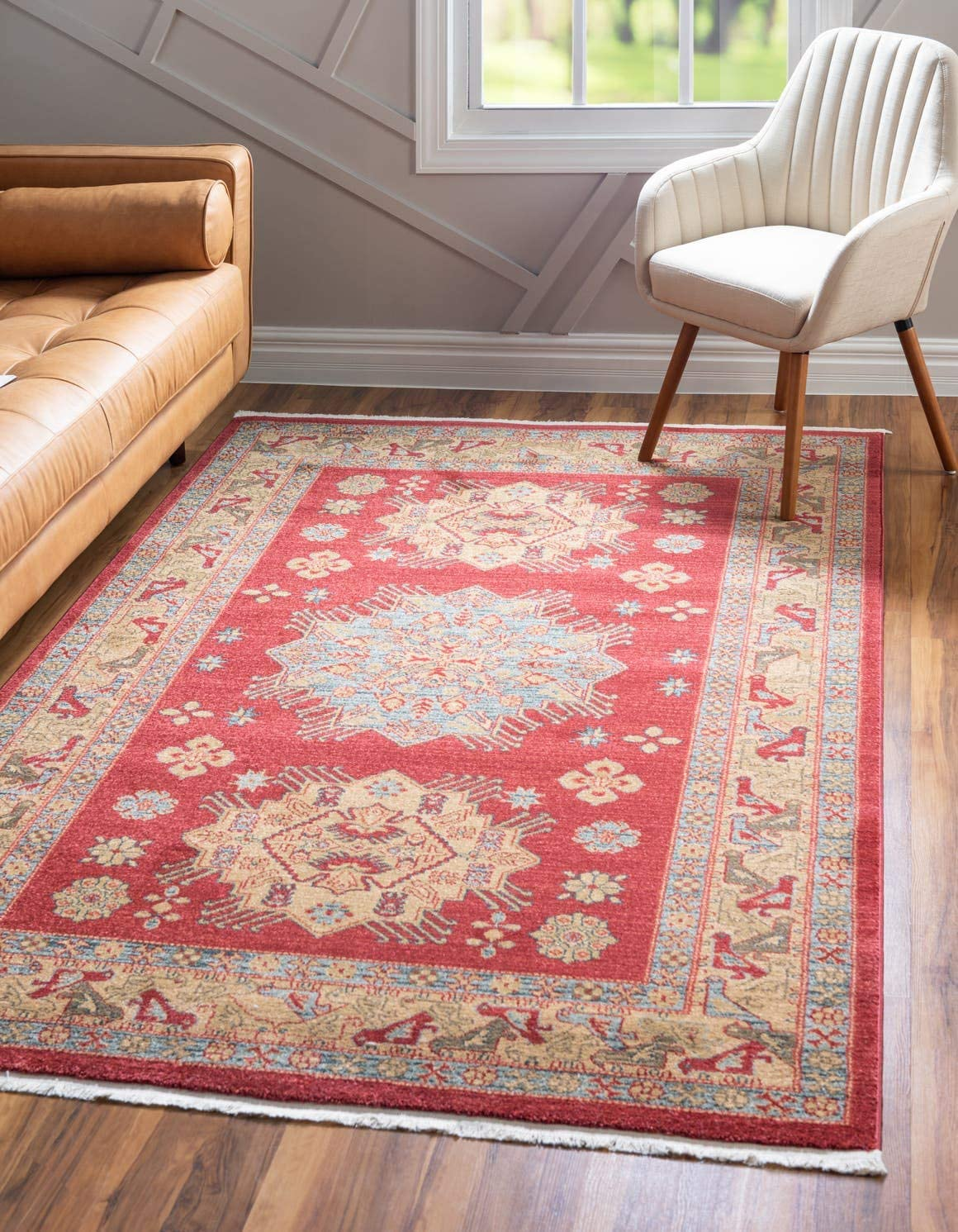 Unique Loom Sahand Collection Traditional Geometric Classic Red Area Rug 2 2 x 3 0