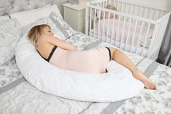 Sanggol - Almohada bumerán de embarazo, maternidad y lactancia en forma de C | Almohada corporal para dormir - Estándar, con funda de almohada ...