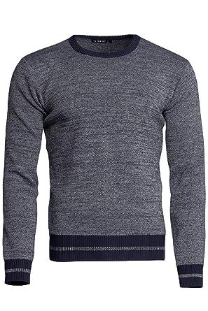 S West Herren Pullover AUS Wolle Strickpullover GESTREIFT Baumwolle MODISCH,  Größe M, 48f41f7184