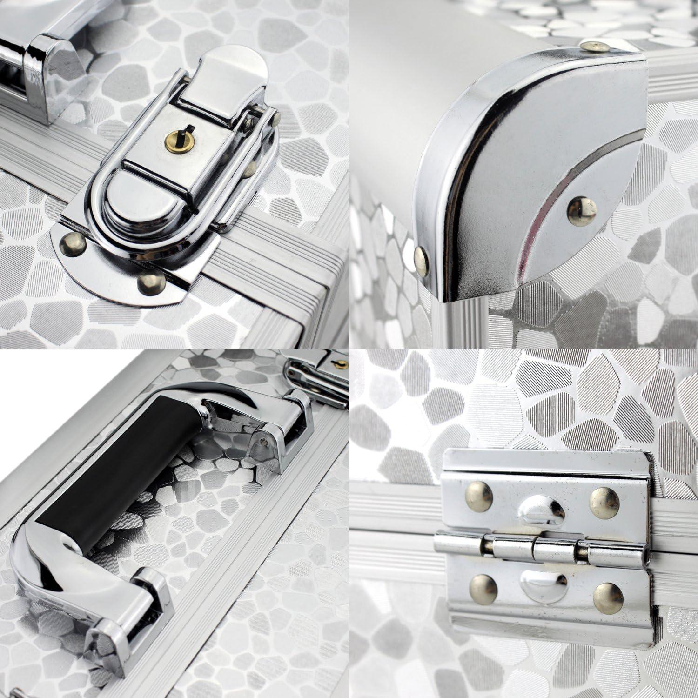 Silver Glow Vanity//Beauty case//Maquillage Sac//Trousse de toilette//Cosm/étique Organisateur