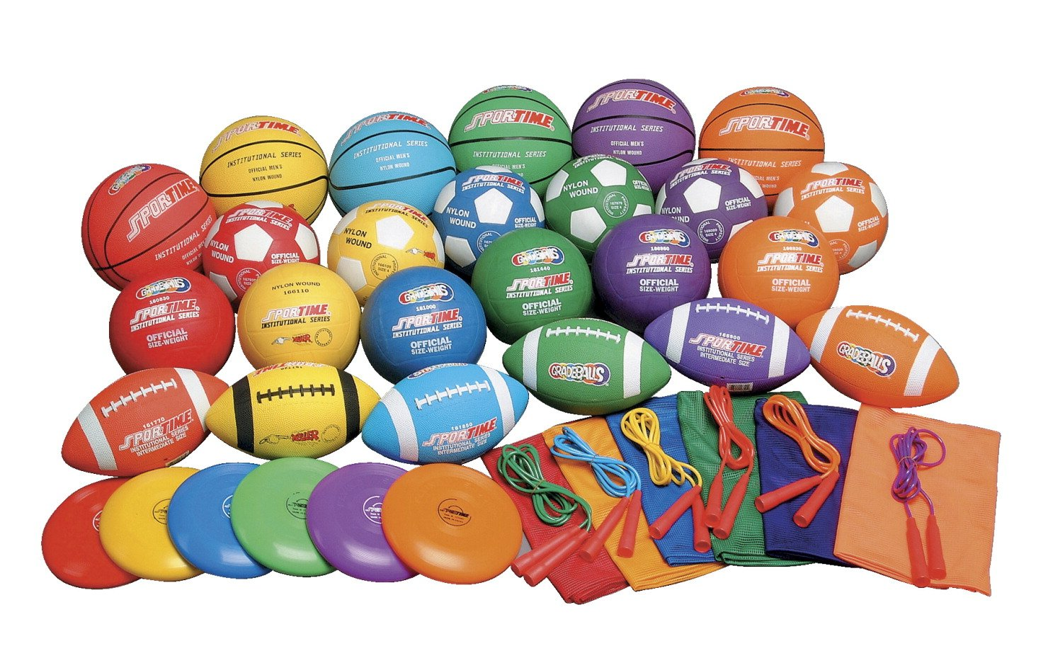 Sportime Gradestuff Middle School Equipment Pack, 42 Pieces
