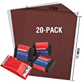 WORKPRO 24 Piece Sandpaper 80-600 Assorted Grit with Holder, Sand Sponges 40/80/120 Grit, Alumina Sand Paper for Wood Furnitu