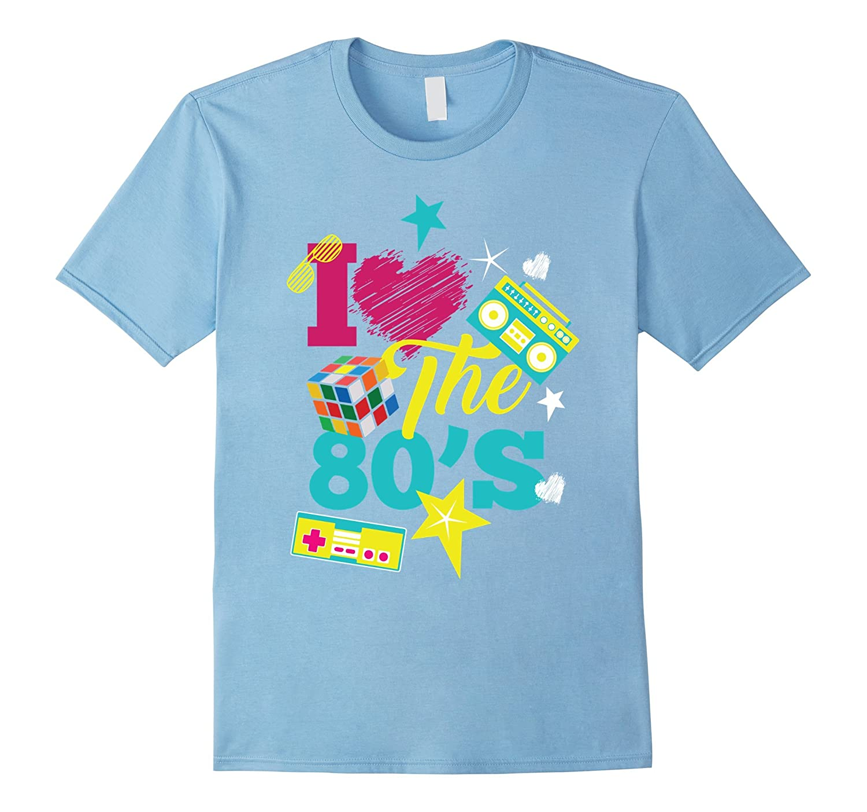 I Love The 80s Retro Style Generation X T Shirt Design