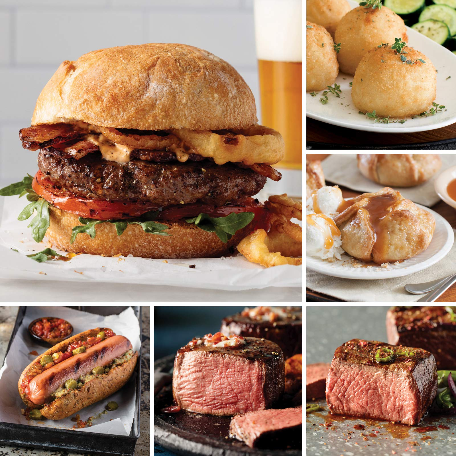Omaha Steaks Christmas Assortment (20-Piece with Top Sirloins, Filet Mignons, Steak Burgers, Jumbo Franks, and Potatoes Au Gratin) by Omaha Steaks (Image #1)