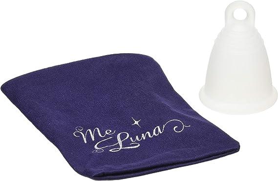 MeLuna Classic Copa Menstrual, Anillo, Transparente, Talla M - 1 Unidad