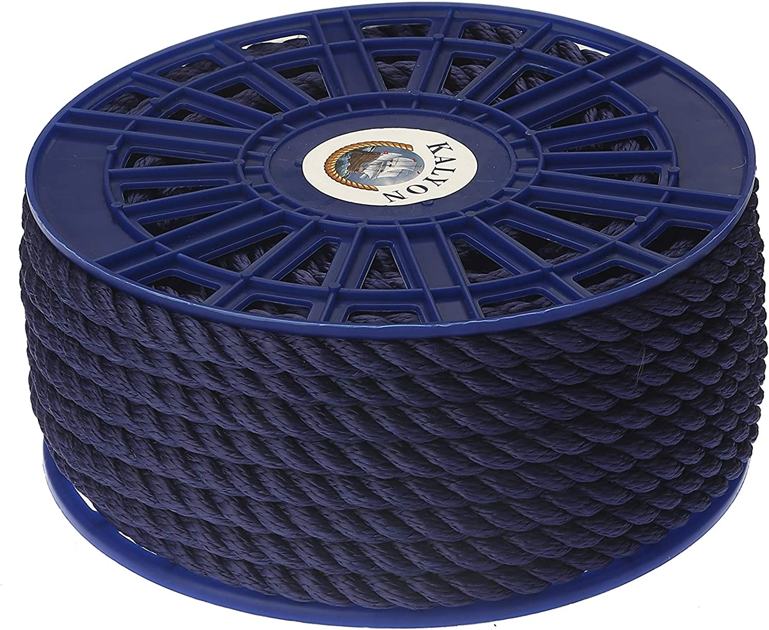 KALYON Premium Quality 3 Strands 16MM 5//8 90ft All Sizes Marine Rope Floating Polypropylene Rope Made in Turkey