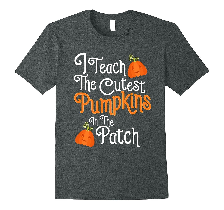 Funny Halloween Shirt For Teachers With Pumpkins-T-Shirt