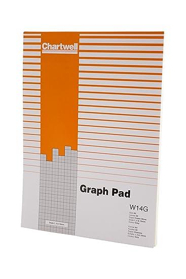 Chartwell Diagramm-Block 85 g/m² mit Skalenbereich 280 x 190 mm 1 mm ...