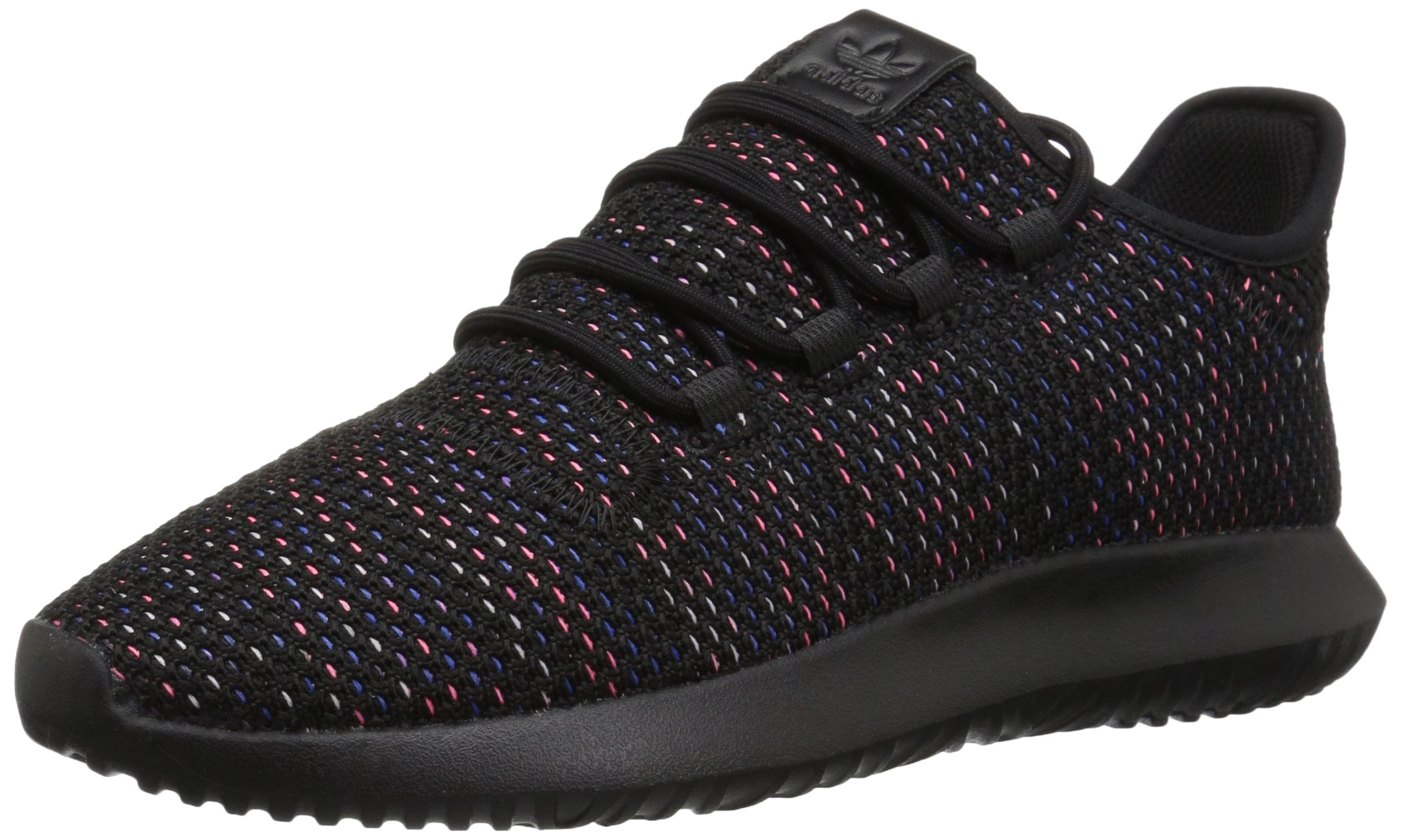 adidas Originals Men's Tubular Shadow Ck Fashion Sneakers Running Shoe, Black/Solar red/Mystery Ink, 9 M US