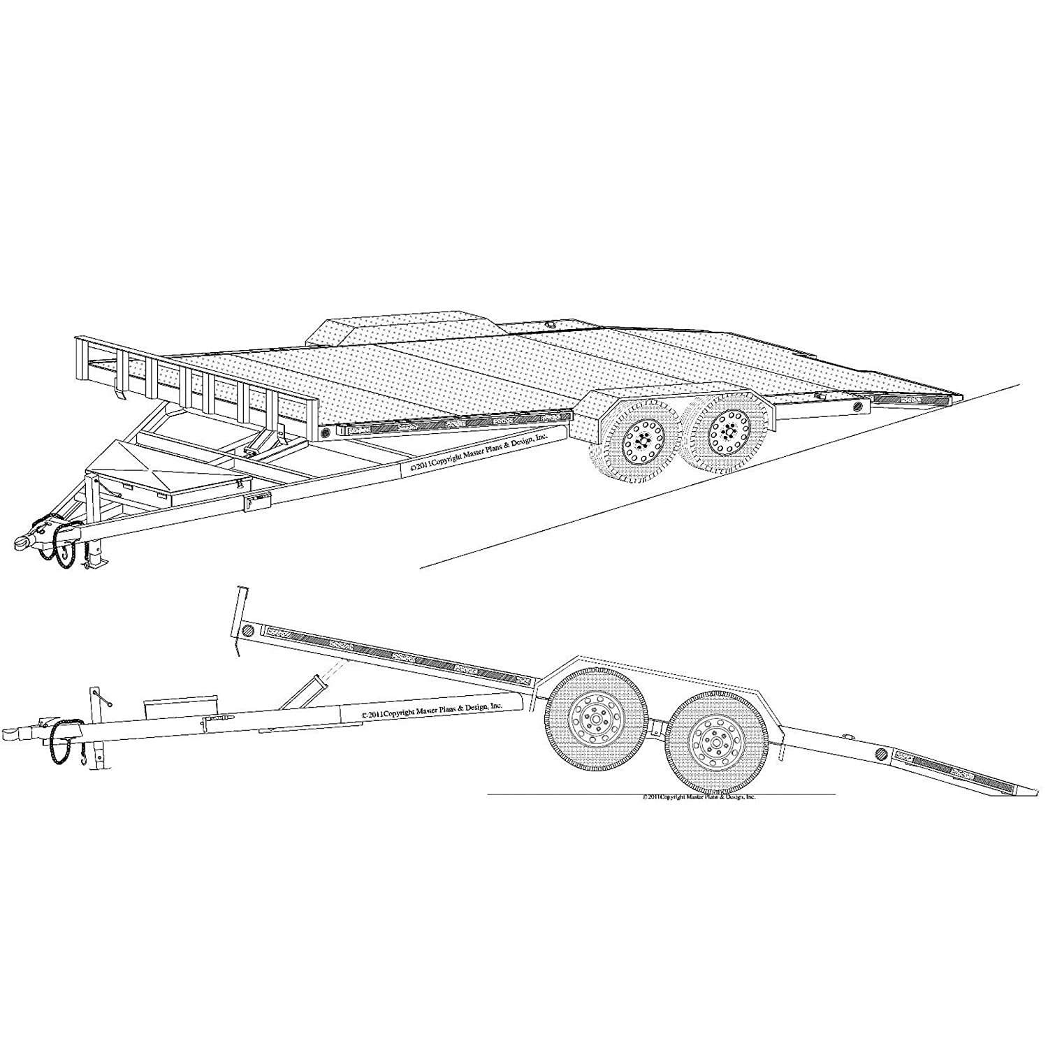 "Amazon.com: 19'x82"" Hydraulic Car Carrier Trailer Plans Blueprints, Model  18HT: Automotive"