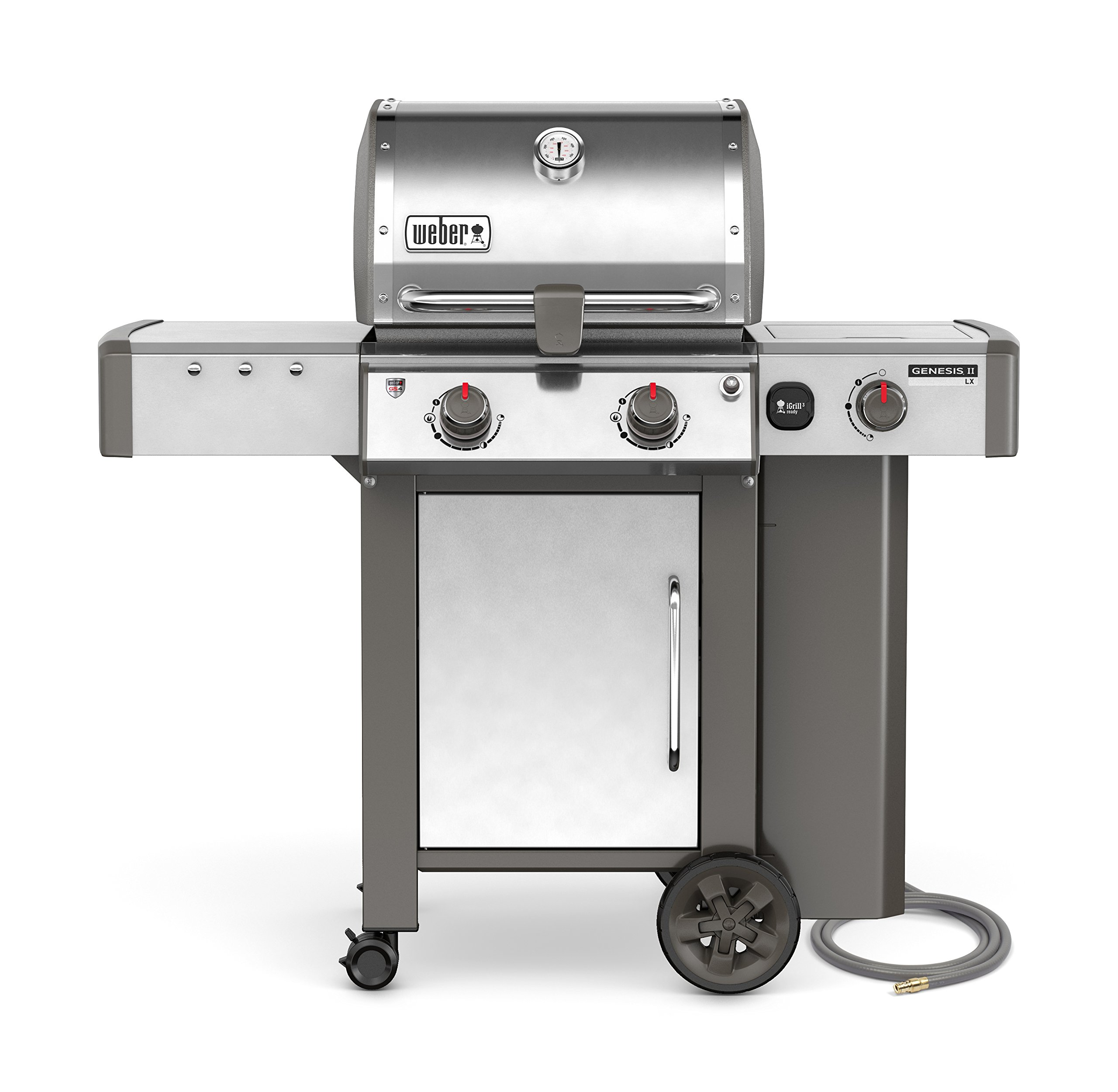 Weber 65004001 Genesis II LX S-240 Natural Gas Grill, Stainless Steel, Two-Burner,