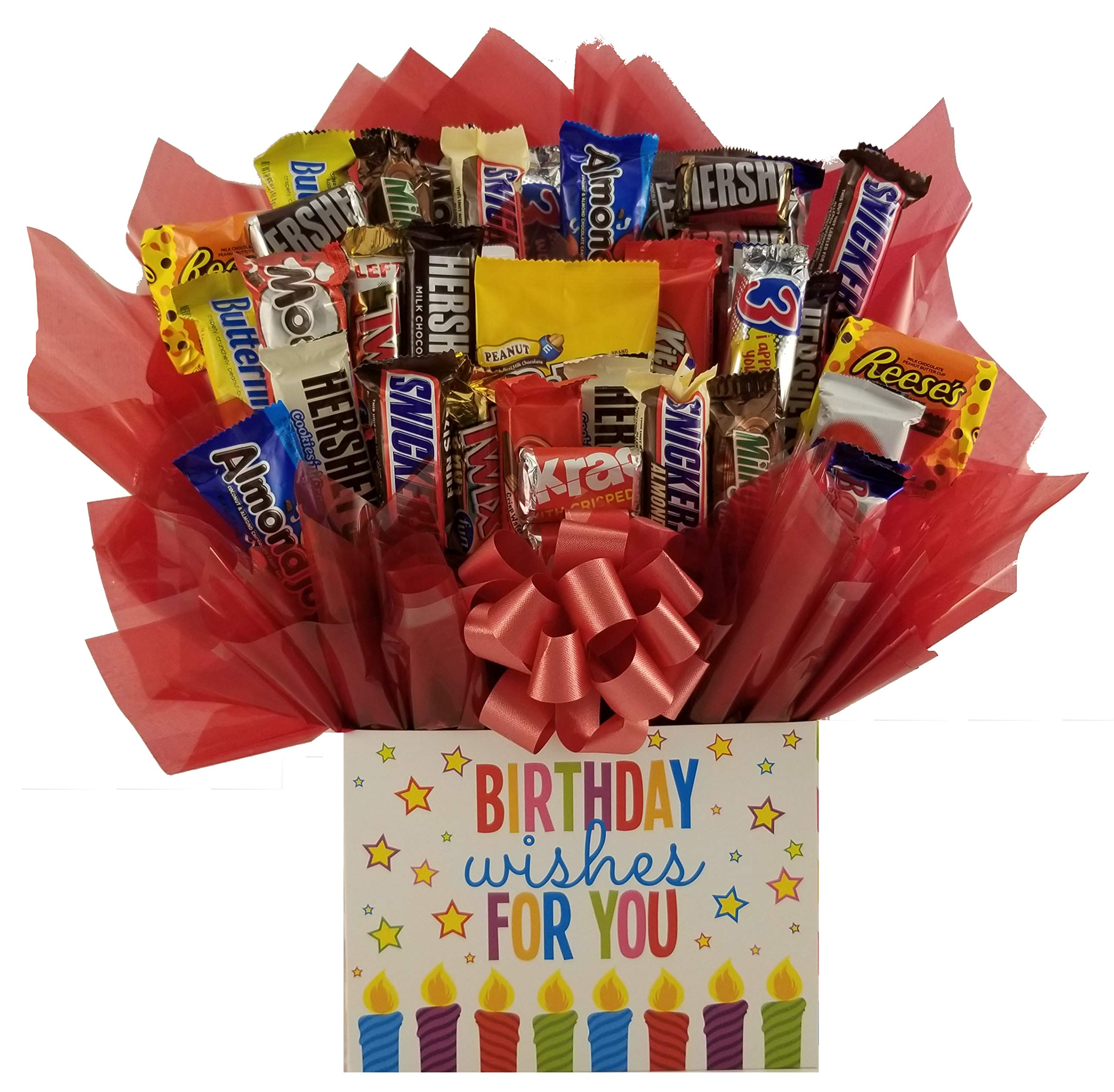 Chocolate Candy Bouquet gift box - Great as gift for a Happy Birthday gift or for any occasion (Birthday Wishes Gift Box) by So Sweet of You