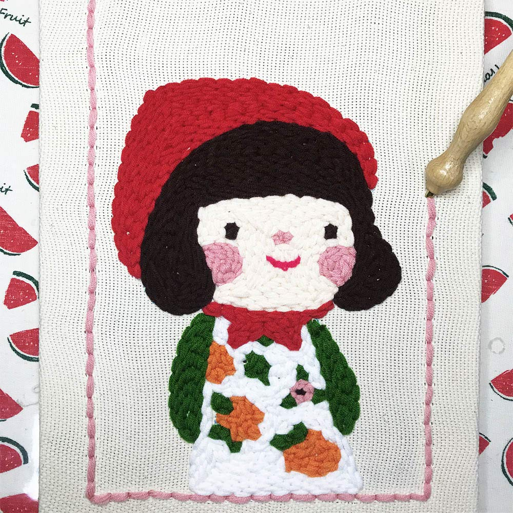 Wool Queen Punch Needle//Rug Hooking Frame Covered with Monks Cloth 10x14 2Pc