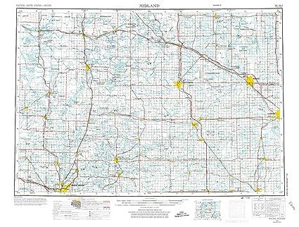 Amazon Com Yellowmaps Midland Mi Topo Map 1 250000 Scale 1 X 2