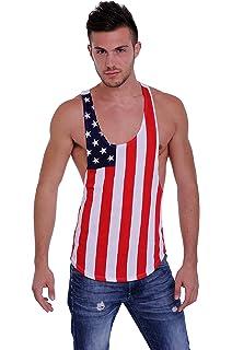 6ca8a1342 Amazon.com: Men's Mesh Dri Fit Light Weight Racer Back Tank Top Gym ...