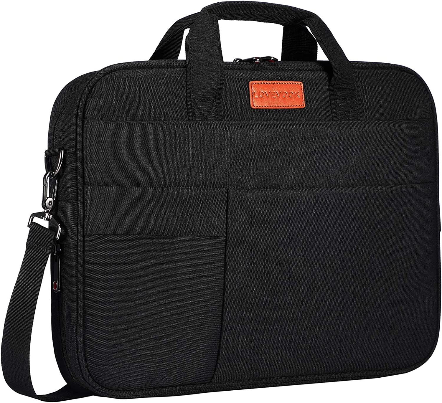 Laptop Messenger Bag for Men Women, 15.6 Inch Shock-proof Carrying Briefcase with Expandable Capacity