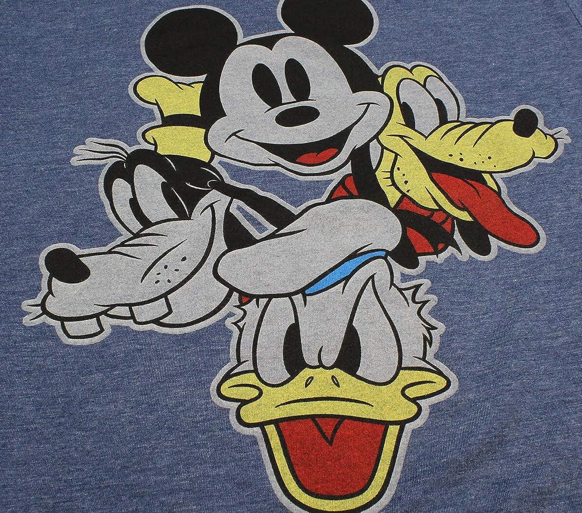 Seven Times Six Disney Shirt Boys Mickey Mouse Pluto Goofy Donald Group Face T-Shirt