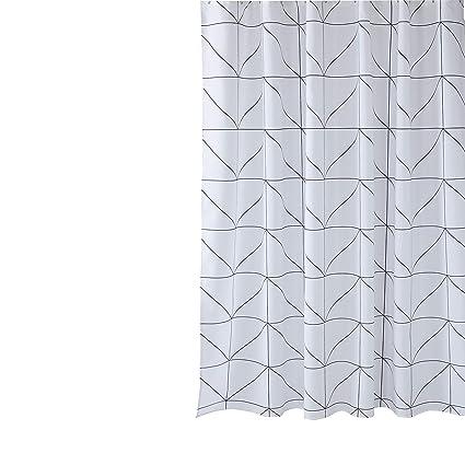 "Geometric Cone Triangle Wavy Lines Bathroom Fabric Shower Curtain /& Hooks 71/"""